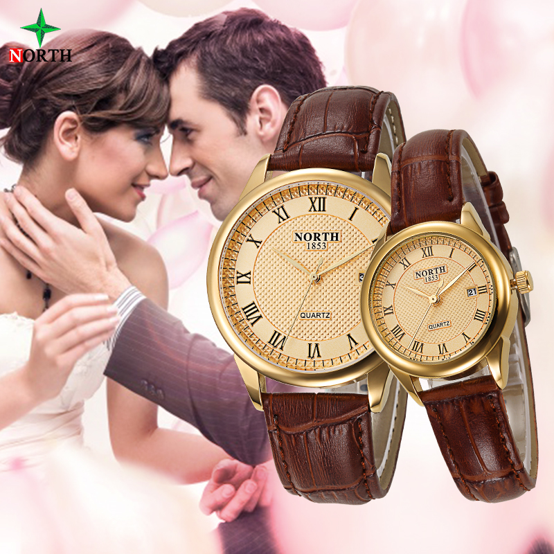 Lovers Watch Fashion Design Couple Dress Wristwatch Casual Leather Waterproof Watches Male Women Sport Clock Lovers Watch Men