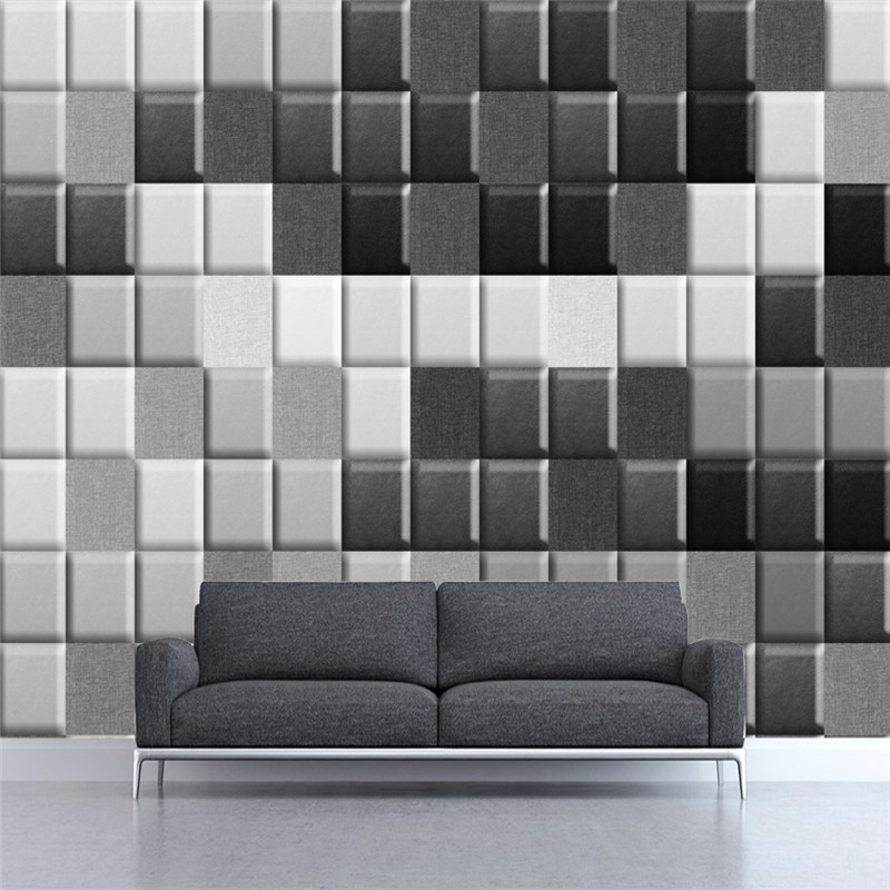 3D Custom Wallpapers Black-and-White Lattice Murals Brown Decorative Painting Photo Wall Papers for Living Room Walls Home Decor rochas rochas rbe rs263 a1 black brown black and brown