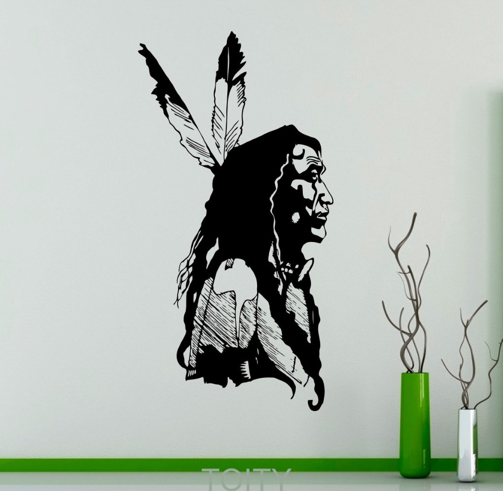 Native American Chief Wall Vinyl Decal American Indian
