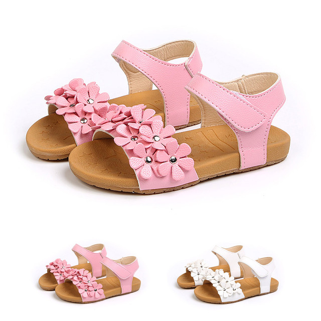 Toddler Baby Girls children sandal Sandals Floral Sole Kids Children Princess Sandals Shoes Beach sandales filles#BYY30