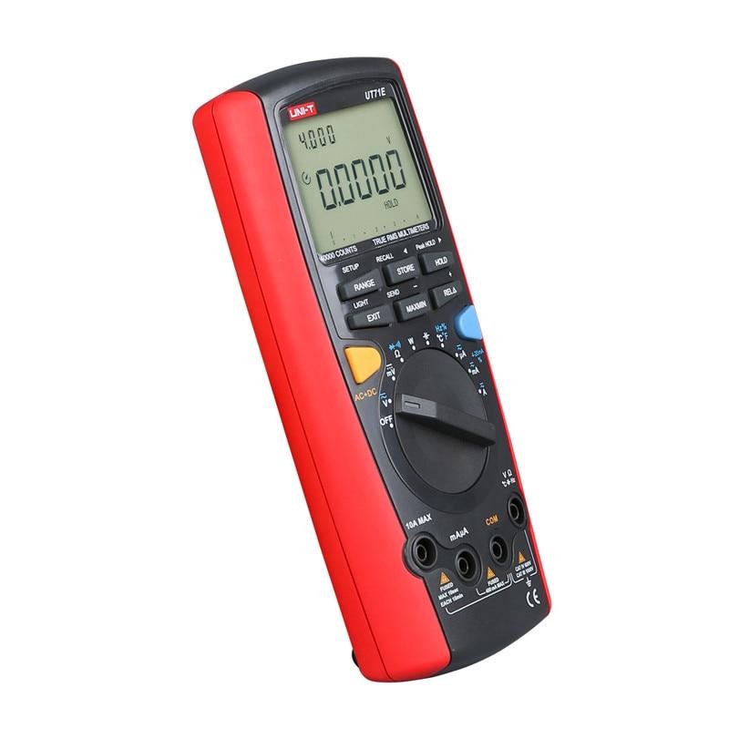 ProfessionalUNI T UT71C Digital MultiMeter Intelligent LCD AC DC Volt Ampere Ohm Capacitance Temp Meter with High Precision in Multimeters from Tools