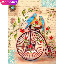 MomoArt Diamond Painting Bicycle Mosaic Cross Stitch Full Square/round Embroidery Cartoon Gift