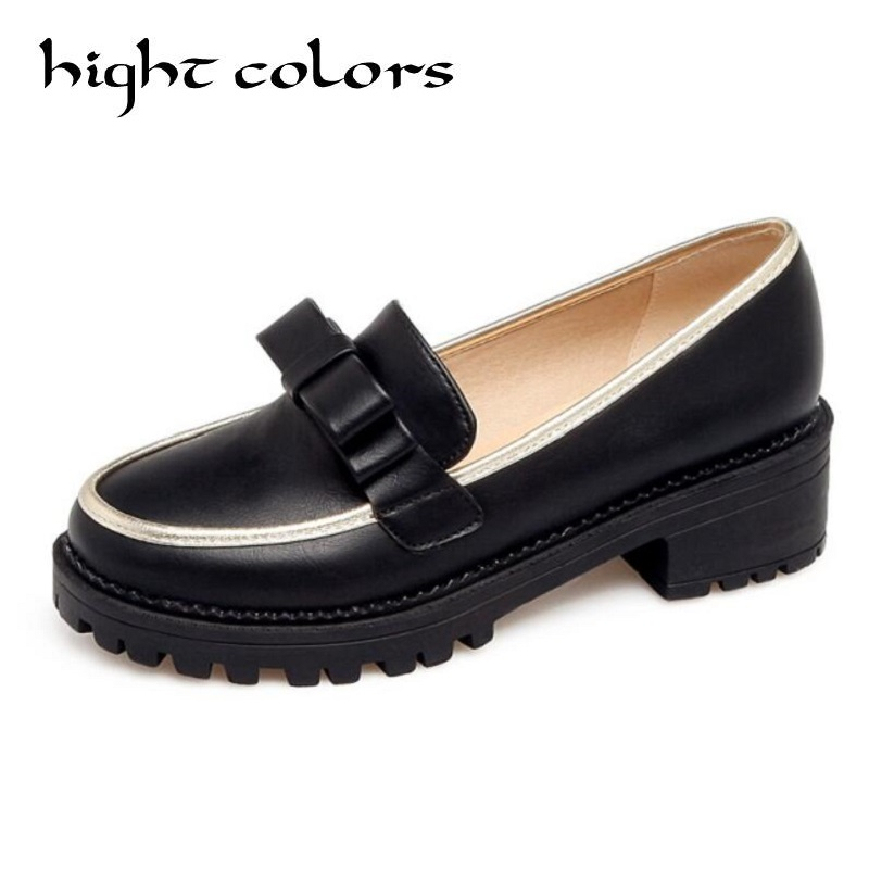 все цены на 2018 Spring/Autumn Slip On Round Toe Flat Women Shoes Mixed Color Lace Shallow Mouth PU Soft Leather Miss Shoes Size 34-43