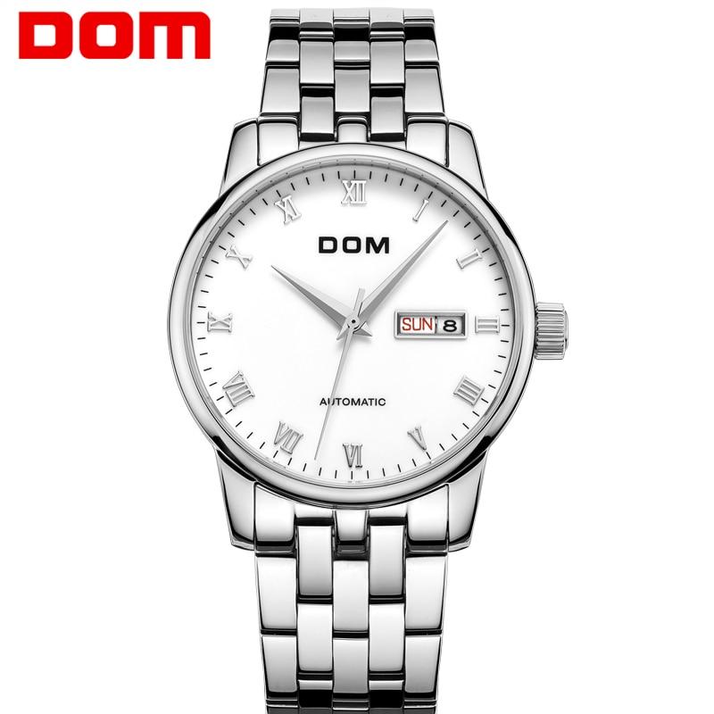 DOM Watch Men Sports Mechanical Clock Mens Watches Brand Luxury Full Steel Business Waterproof Watch Relogio Masculino M-57 все цены