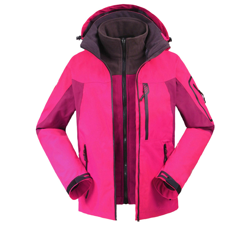 Outdoor Sport 3in1 Ski Hiking Waterproof Winter Jacket Women Windstopper Snowboard Camping Coat Fleece Lining Jaqueta Feminina 3 in 1 outdoor jacket windproof waterproof coat women sport jackets hiking camping winter thermal fleece jacket ski clothing