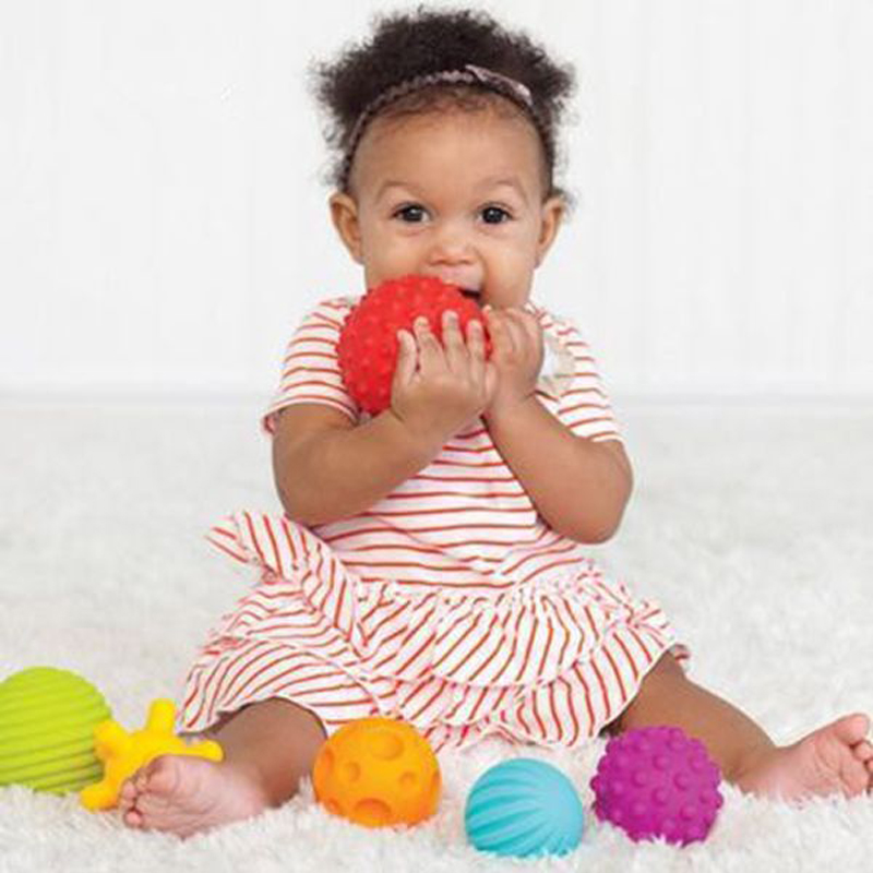 Baby training ball Massage soft ball for baby Baby touch hand ball toys soft balls with Color box