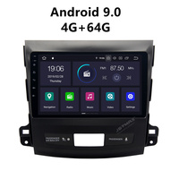 JSTMAX Android 9,0 Автомобильный dvd Радио мультимедийный плеер 4 г + 64 для Mitsubishi Outlander 2007 2008 2009 2010 2011 2012 Fit Rockford