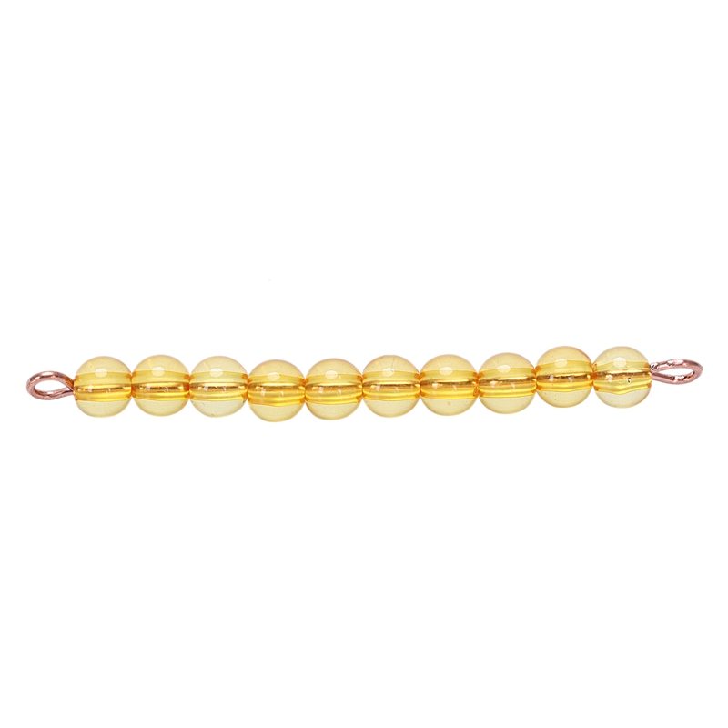 Materials Golden Beads Mathematics Teen Bead Chain Toy Early Educational Training Learning Gift