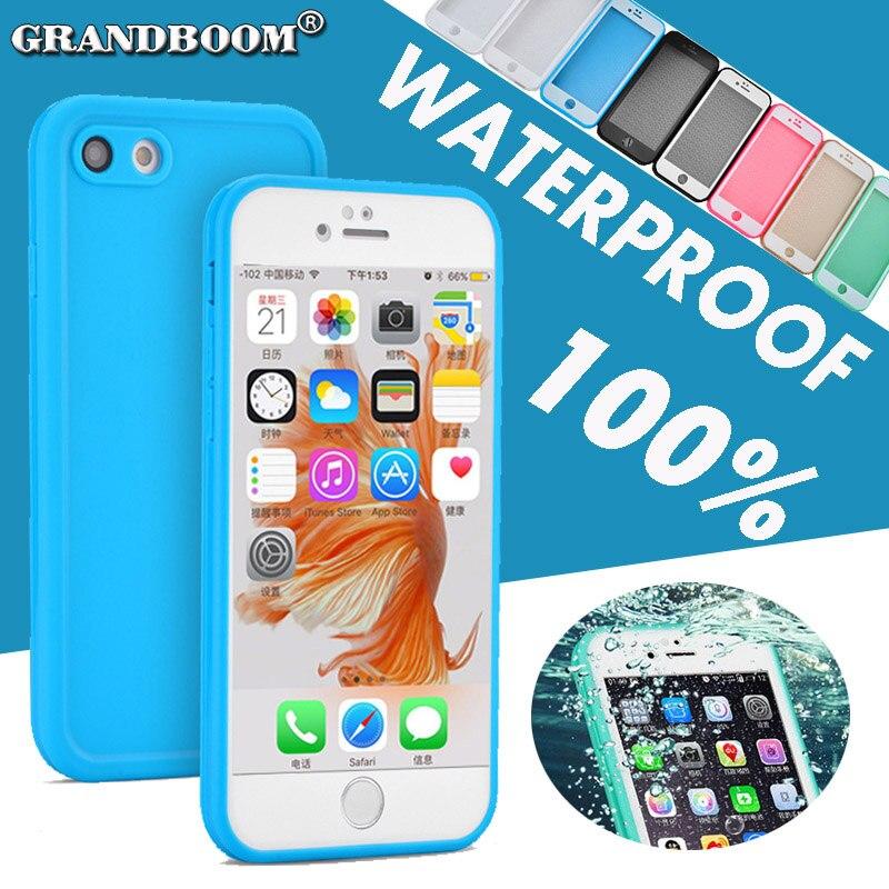 imágenes para GRANDBOOM 100% Sellado A Prueba de agua A Prueba de Polvo Pantalla de Cuerpo Completo Protege La Cubierta Del Caso para el iphone 7 6 6 S Plus SE 5 5S Samsung S7 10 unids