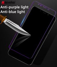 For Xiaomi Redmi Note 7 6 5 Pro 5 Plus 6A 5A S2 Y2 Y1 lite Black Shark Anti Blue Purple Light Tempered Glass Screen Protector цены онлайн