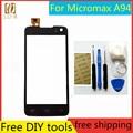 Livre ferramentas diy + 100% nova tela sensível ao toque para micromax a94 sensor para micromax um 94 painel da tela de toque capacitiva de vidro preto