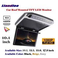10,1 дюймов крыше автомобиля установлен монитор/флип вниз Дисплей/потолочный TFT светодиодный Экран/1080 P HD цвет цифровой ТВ MP5 плеер