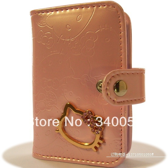Hello Kitty PU Leather ID Card Holders Credit Card Wallet Women business card holder  (1 piece)+ Free Shipping