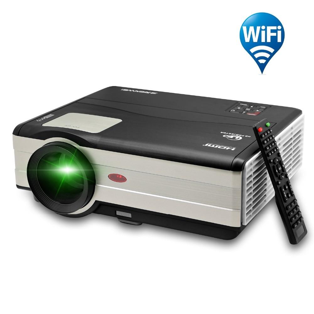 Caiwei HDMI проектор Поддержка 1080 P 3D USB Android ТВ светодиодный проектор портативный аудио видео дом Кино Бимер wifi проектор