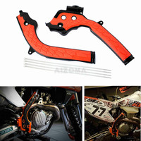 Orange Dirt Bike Frame Guard Motocross Frameguards For KTM SX SXF EXC EXC F 125 250 300 350 450 2016 2018 Husqvarna TE TC FE FC