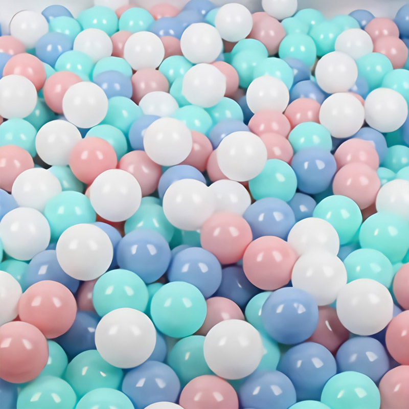 New 6cm Plastic Pit Balls 50pcs 100pcs Safe Eco-Friendly Kids Infant Play Pool Ball Toy Soft Pastel Mix Color Baby Hands Size