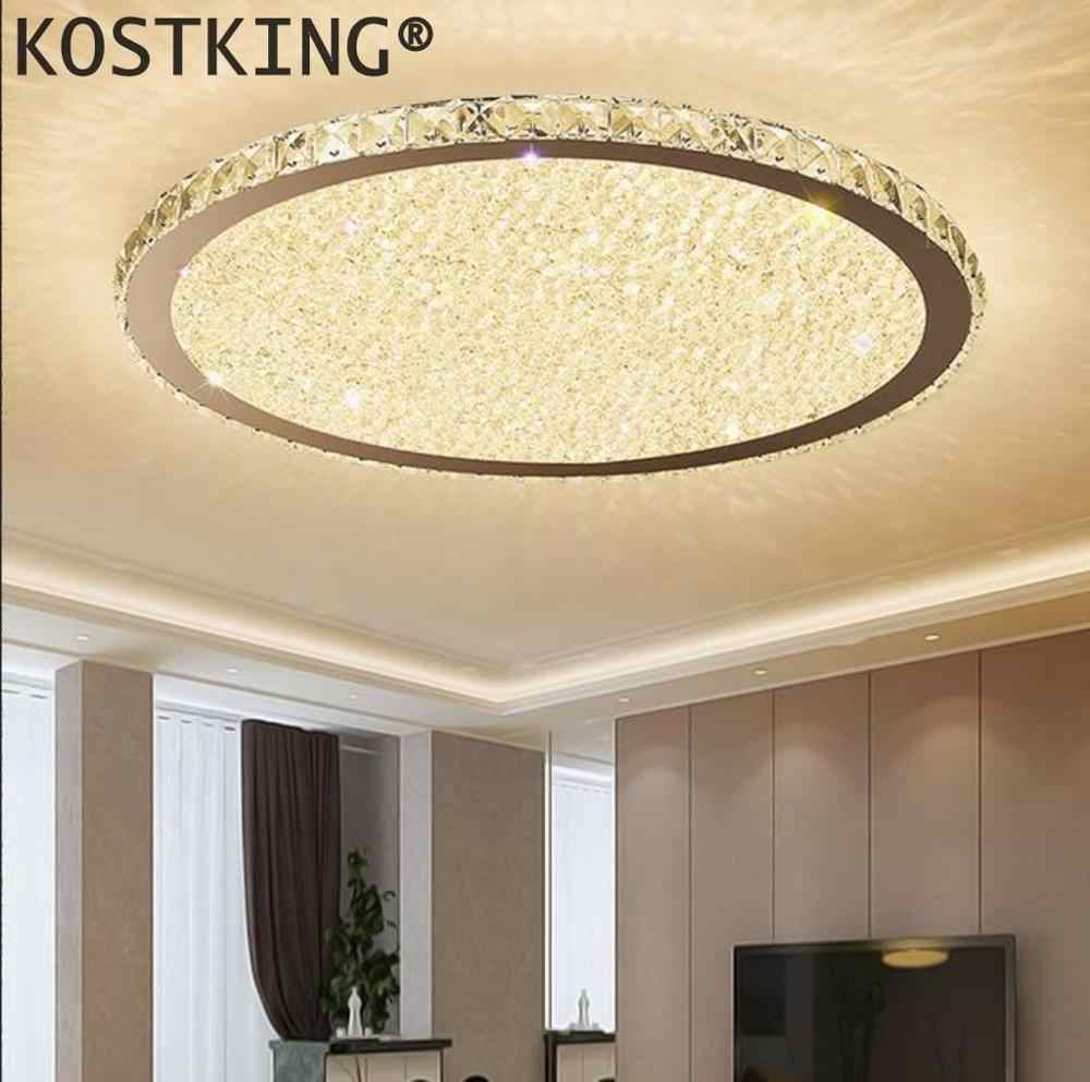 Modern crystal chandeliers Lights Home Lighting ledlamp Living room Bedroom plafonnier Round led chandelier lampadari fix