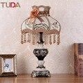 Светодиодная настольная лампа TUDA  европейская тканевая настольная лампа  прикроватная настольная лампа для спальни  гостиной  учебы  ретро-...