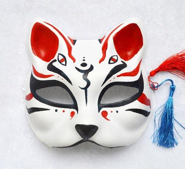 Kitsune Tattoos Origins Meanings Types Of Japanese: Half Face Hand Painted Japanese Style Fox Mask Kitsune
