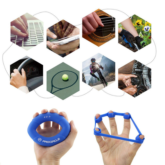 6pcs Hand Gripper Silicone Ring Hand Resistance Band Finger Stretcher Stress Relief Relax for Forearm Wrist & Finger Training