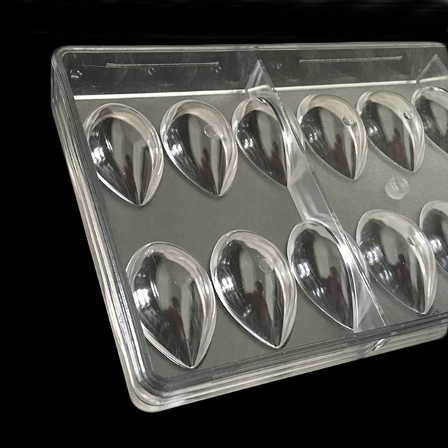 3D Lotus Shape Polycarbonate Chocolate Mold, kitche bakeware candy mold Cake Candy PC Chocolate Mould Baking Pastry Tools