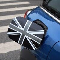 Union Jack Checker Fuel Tank Cap Decoration Case Cover Sticker Housing For Mini Cooper Countryman F60 Car Styling Accessories