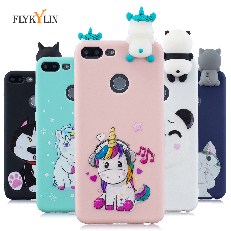 c0f9e82f4b3 Soft Silicone Case on sFor Coque Huawei Honor 9 Lite case 3D Unicorn cover  For Etui Huawei Honor 8A 8C 8X 9 Lite Cases Bag shell