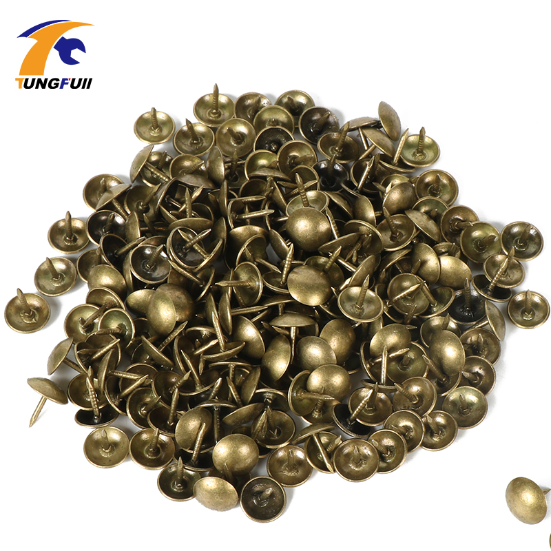 Pushpin Doornail Hardware Antique Bronze Decorative Upholstery Nail Jewelry Gift Box Sofa Decorative Tacks Stud 100pcs 7x11mm