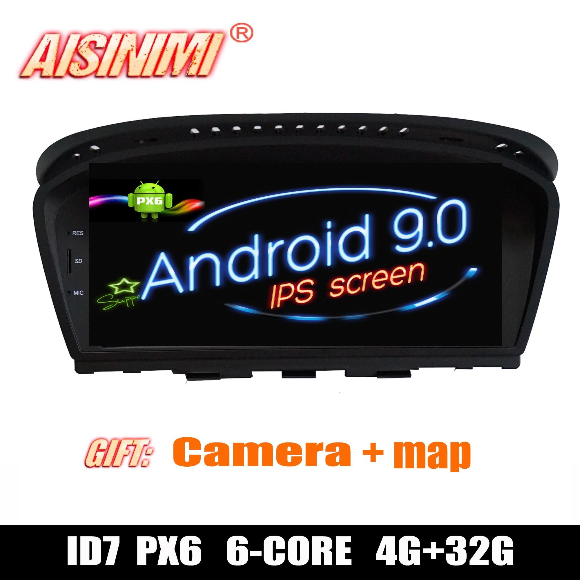 Android 9 0 ID7 Car Dvd Navi Player FOR BMW 5 serie E60 E61 E62 E63