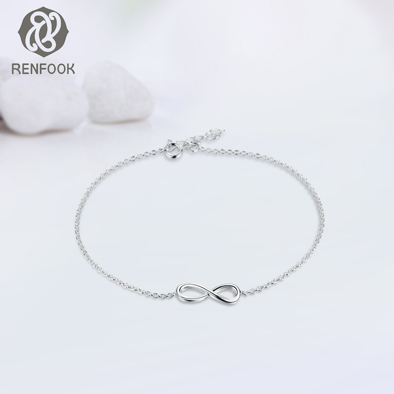 Friends Forever Bracelets Cable Chain Link Bracelet 925 Sterling Silver Femme Infinity Jewellery For S In Charm From Jewelry