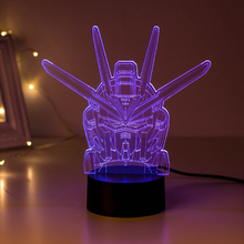 2017 New Model Sleep Light Gundam freedom Unicorn fate Angel 00 lamp with remote control 2017 New 7 color changing figuras