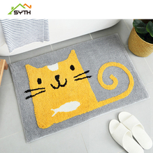 SYTH Water Absorption Rug Fleece Bathroom  Kit Toilet  cartoon Pattern Bath  Mats Floor Carpet Set Mattress for Bathroom mat brick wall pattern indoor outdoor water absorption area rug