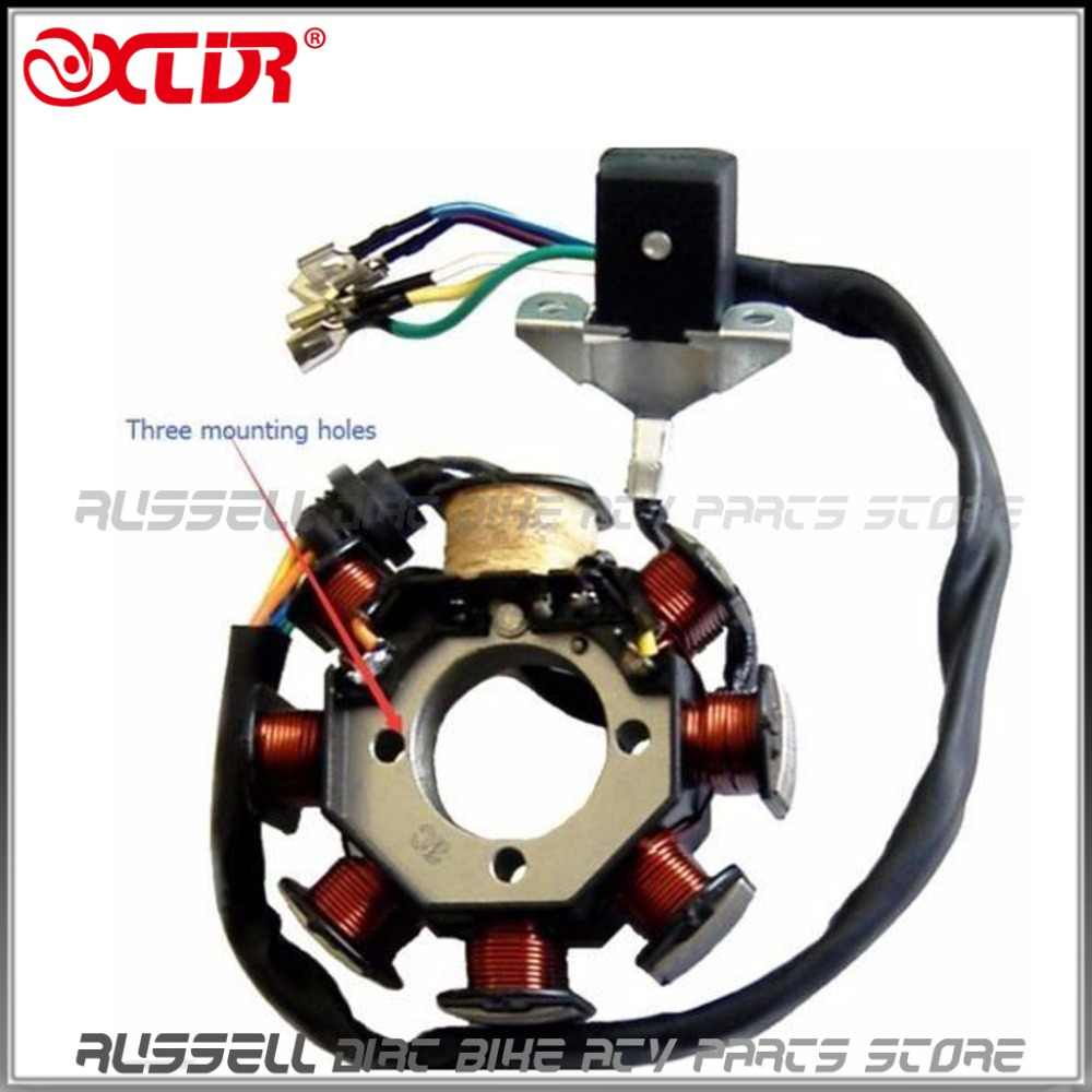 250cc 200cc atv quad full electrics cdi magneto ignition coil rectifier wire harness wiring  [ 1000 x 1000 Pixel ]