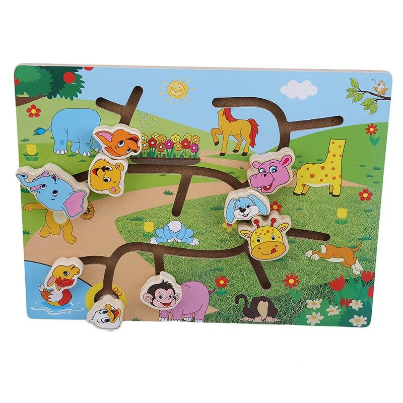 Education Puzzle Wooden Maze Puzzle Animal Traffic Matching Maze Intelligence Early Childhood Education Children's Toys