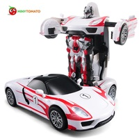 Free Shipping Racing Car Models Deformation Robot Transformation Remote Control RC Car Toys For Children Christmas
