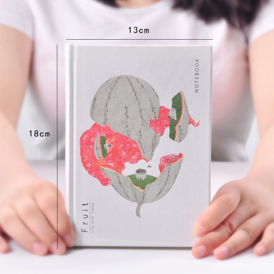MOREUSEE Fruit Series Sketchbook A5 Blank Page Original Notebook Hardcover Notepad 1PCS