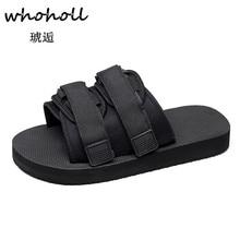 Whoholl Plus Size 36-47 Men Sandals Fashion Slipper Summer Beach Shoes Lover Open Toe Slides Slippers Sandalias Hombre