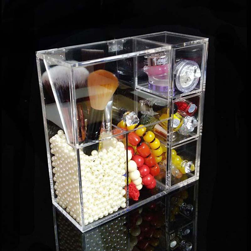 Upgrade Version Multi function Brush Cosmetic Organizer Clear Acrylic Makeup Organizer Clamshell Acrylic Brush Holder No