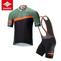 Сантич Велоспорт Джерси комплект Для мужчин гоночной команды Велосипедная форма комплект Горная дорога велосипед задействуя Джерси скафа