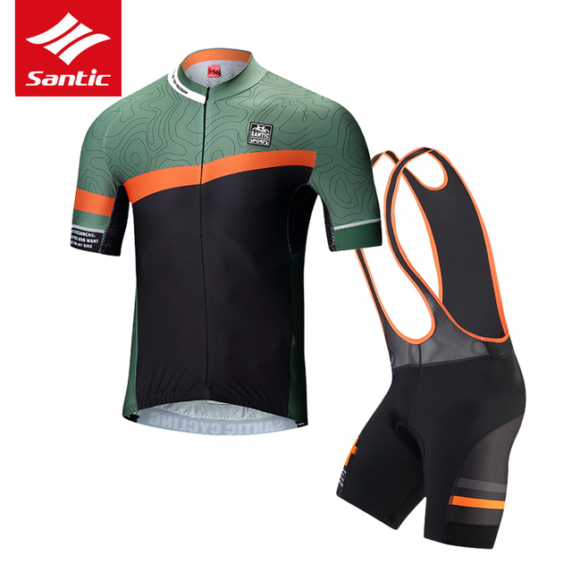bfee2cc3d Santic Cycling Jersey Set Men Team Racing Cycling Clothing Set Mountain  Road Bike Bicycle Jersey Cycling Skinsuit Ropa Ciclismo