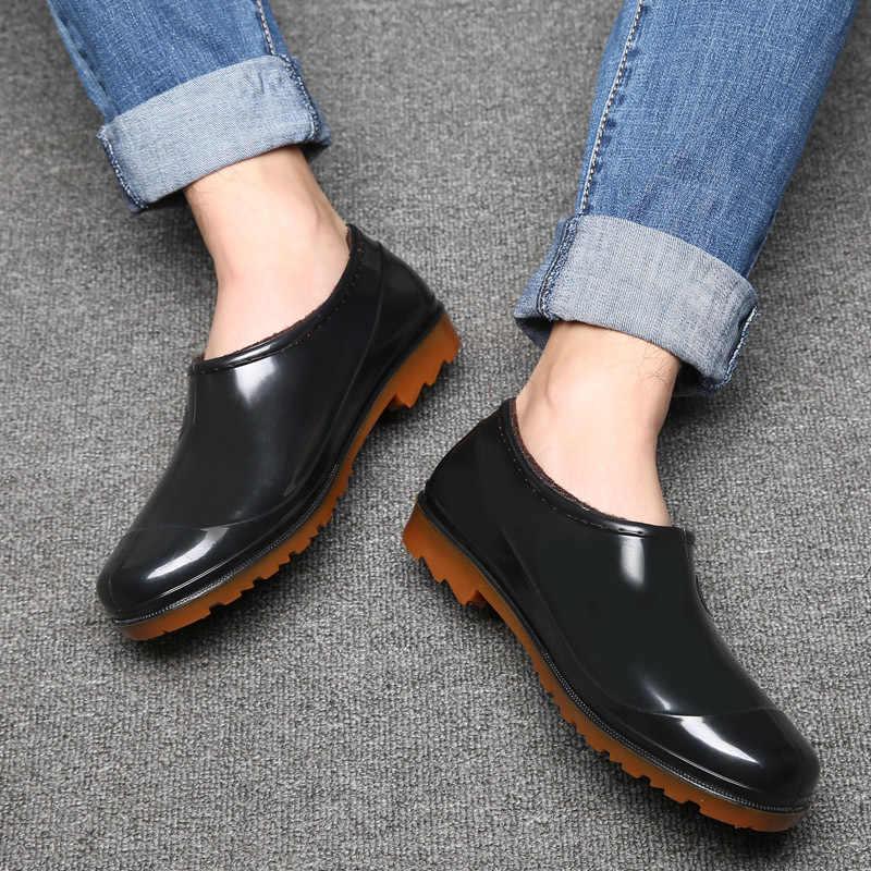 Aleafalling Kadın yağmur çizmeleri Su Geçirmez Ayakkabı Unisex Açık Bahçe Mutfak Bayan Akıllı Ayakkabı Kız Araba Yıkama Ayakkabı AW03