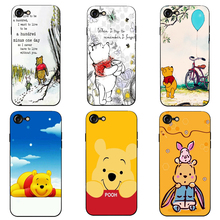Winnie the Pooh cute bear phone case black soft cover for iPhone 11 Pro Max 6 7 8plus 5S X XS XR XSMax For Samsung s10 s9 series