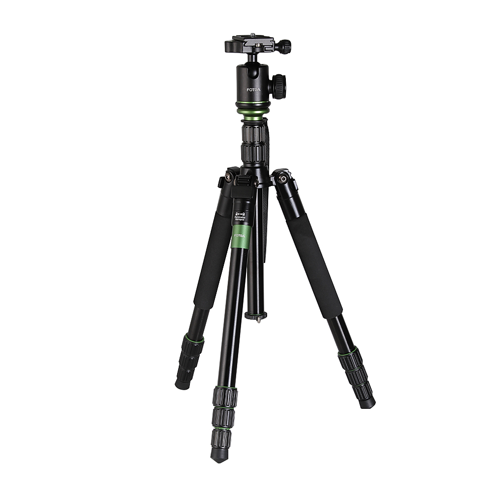 FOTGA Portable Professional Travel Aluminium Tripod Monopod Stand With Ball Head for DSLR Camera aluminium alloy professional camera tripod flexible dslr video monopod for photography with head suitable for 65mm bowl size