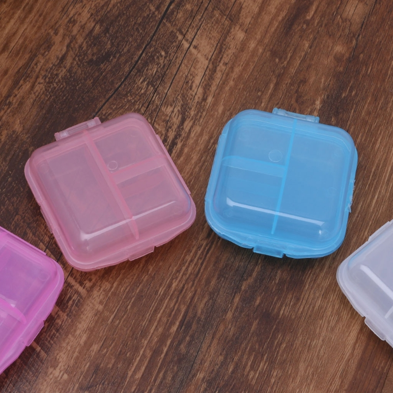 Двойной Слои мини медицина таблетки Box наркотиками Дело Организатор Планировщик контейнер держатель Pill держатель для хранения
