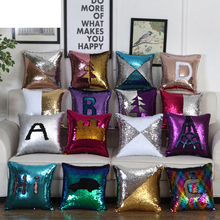 DIY sequin pattern Pillow Case Home Soft Pillowcase With Sequins Glitter Pillow Cover Sequins Solid Color Queen 5meters 17colors connecting strip with diy sequins handicraft pearl sequins garment connecting strip with diy sequins