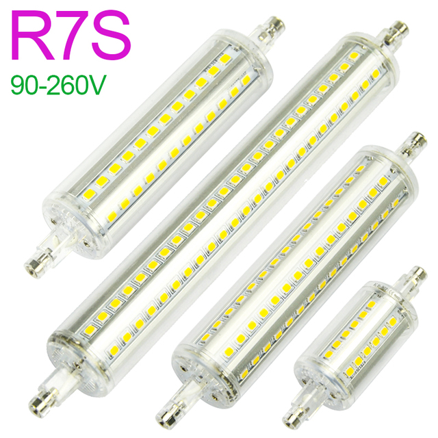 new r7s led lamp 5w 10w smd 2835 78mm 118mm led r7s light bulb ac90 260v replace halogen light. Black Bedroom Furniture Sets. Home Design Ideas