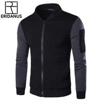 2017 New Design Men Sweatshirts Casual Slim Fit Bomber Jacket Size M 3XL Autumn Brand Fashion