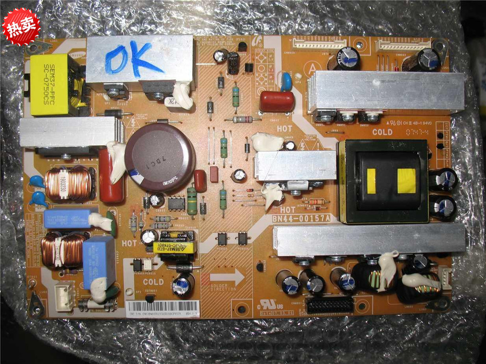 100% Tested BN44-00157A PSLF231501A For Samsung Power Board bn44 00474a pd4046a1 lfd for samsung led power board