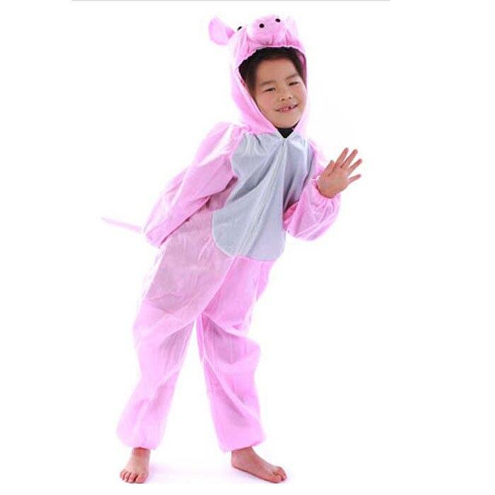 New Baby Boys Girls Pajamas Autumn Winter Children Flannel Animal Funny Animal Pink Pig Cosplay Pajamas Kid Onesies Sleepwear