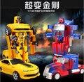2017 Новый optimus prime шмель rc автомобилей мигающий пульт дистанционного управления деформации роботы cars kids model toys горячие продажи juguetes